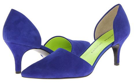 Alacsony sarkú, two-piece pumps with royal blue suede uppers