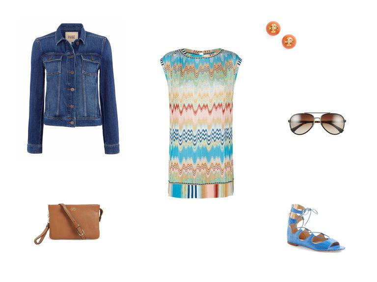 Jean jacket and mini dress outfit