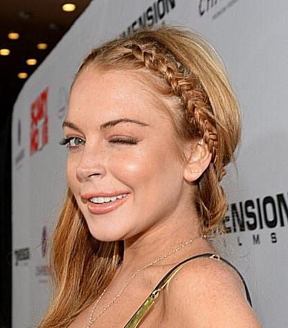 A picture of Lindsay Lohan